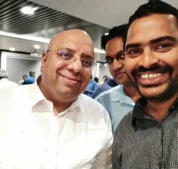 With Anurag Batra business world magazine chairman — at FAPCCI.